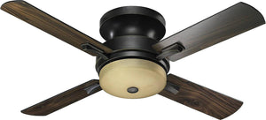 "52""W Davenport Hugger 4-Blade Ceiling Fan Old World"