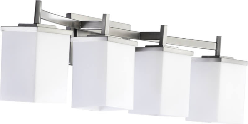 "28""W Delta 4-Light Bathroom Vanity Satin Nickel"
