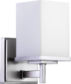 "5""w Delta 1-Light Wall Sconce Satin Nickel"