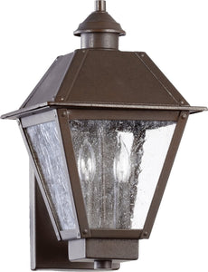 Quorum Emile 2-Light Outdoor Wall Lantern Oiled Bronze 7024286