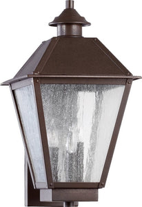 Quorum Emile 3-Light Outdoor Wall Lantern Oiled Bronze 7024386