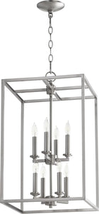 Quorum 8-light Entry Foyer Hall Chandelier Satin Nickel