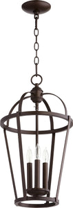 Quorum 3-light Entry Foyer Hall Chandelier Oiled Bronze