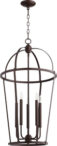 Quorum 5-light Entry Foyer Hall Chandelier Oiled Bronze