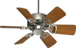 Quorum Estate 30 6-Blade Ceiling Fan Satin Nickel 4330665