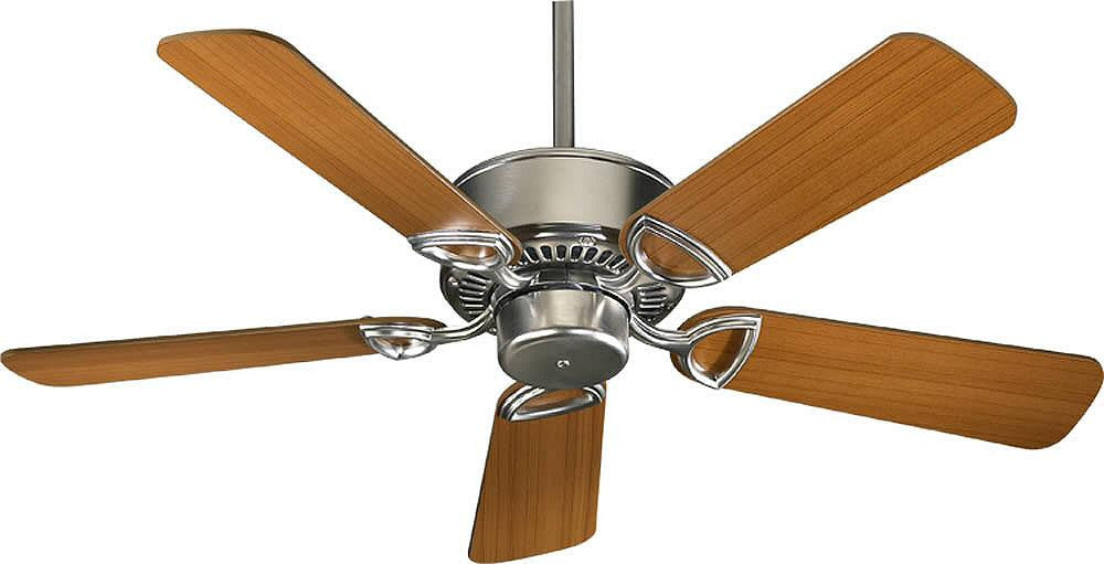 "42""W Estate 5-Blade Ceiling Fan Satin Nickel"