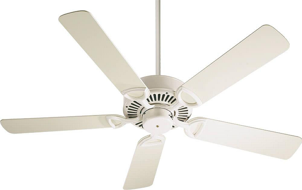 "52""W Estate 5-Blade Ceiling Fan Antique White"