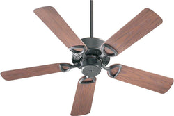 Quorum Estate Patio Indoor/Outdoor 42 5-Blade Patio Ceiling Fan Old World 14342595