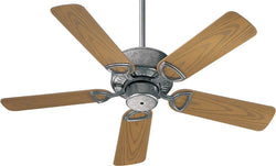 Quorum Estate Patio Indoor/Outdoor 42 5-Blade Patio Ceiling Fan Galvanized 1434259