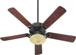 "Estate Patio 2-Light Indoor/Outdoor 52"" 5-Blade Patio Ceiling Fan Toasted Sienna"