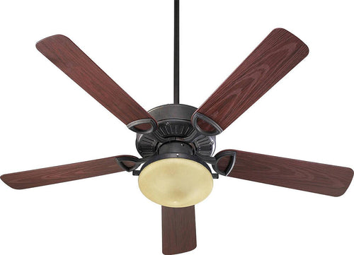 Quorum Estate Patio 2-Light Indoor/Outdoor 52 5-Blade Patio Ceiling Fan Toasted Sienna 143525944