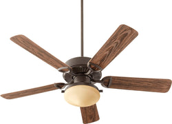 Quorum Estate Patio 2-Light Ceiling Fan Oiled Bronze 143525986