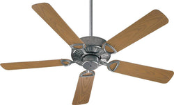 Quorum Estate Patio Indoor/Outdoor 52 5-Blade Patio Ceiling Fan Galvanized 1435259