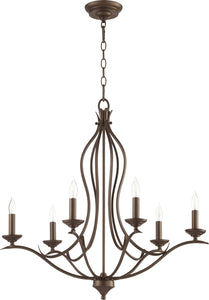 Flora 6-light Chandelier Oiled Bronze