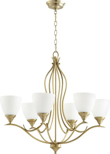 Quorum Flora 6-light Chandelier Aged Brass