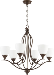 Quorum Flora 6-light Chandelier Oiled Bronze