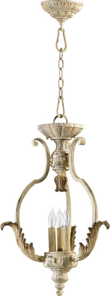 Quorum Florence 3-Light Chandelier Pachment White 6837370