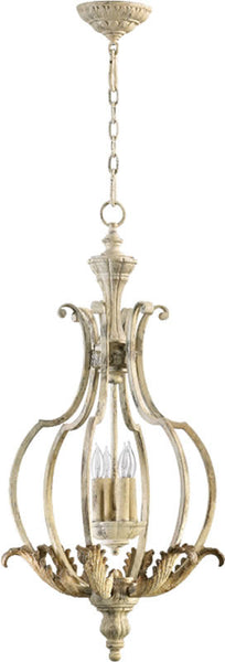 Quorum Florence 4-Light Chandelier Pachment White 6837470