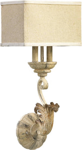 Quorum Florence 2-Light Wall Sconce Pachment White 5237270