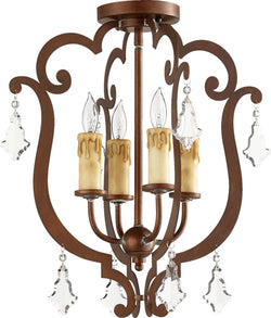 Montgomery 4-Light Ceiling Mount Vintage Copper