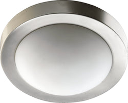 Quorum 9 inch Contemporary Flush Mount Satin Nickel 3505-9-65