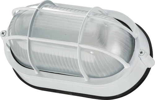 Quorum 1-Light Oval Bulkhead Light Kit White 680-9-6