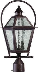 "20""h French Quarter 2-Light Outdoor Post Lantern Oiled Bronze"