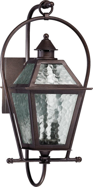 "21""h French Quarter 2-Light Outdoor Wall Lantern Oiled Bronze"