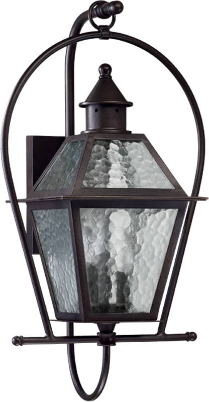 "26""H French Quarter 3-Light Outdoor Wall Lantern Oiled Bronze"