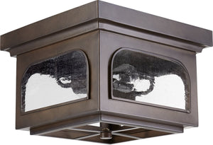 "13""W Fuller 2-light Outdoor Flush Mount Oiled Bronze"