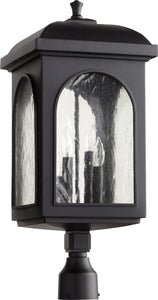 Quorum Fuller 4-light Outdoor Post Lantern Noir