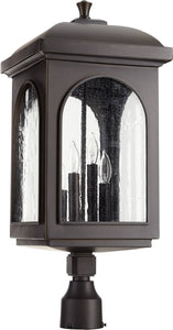 Quorum Fuller 4-light Outdoor Post Lantern Oiled Bronze