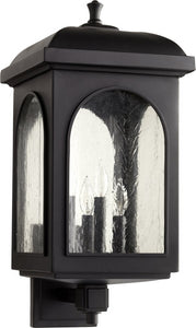 Quorum Fuller 4-light Outdoor Wall Lantern Noir