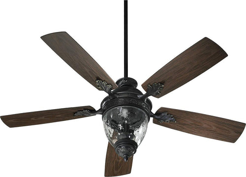 Quorum Georgia Patio 3-Light Indoor/Outdoor 52 5-Blade Patio Ceiling Fan Old World 174525995