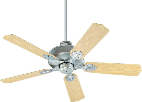 Quorum Hudson Indoor/Outdoor 52 5-Blade Patio Ceiling Fan Galvanized 1375259