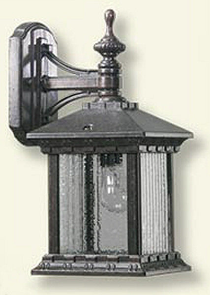 Quorum Huxley 1-Light Outdoor Wall Lantern Rustic Silver 746172