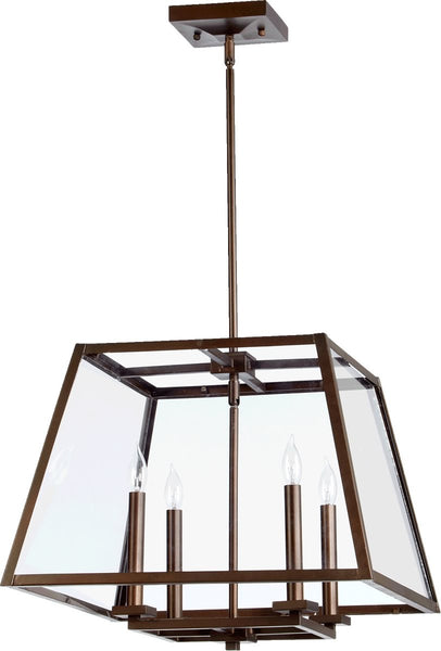 Quorum Kaufmann 4-Light Pendant Oiled Bronze 6104486