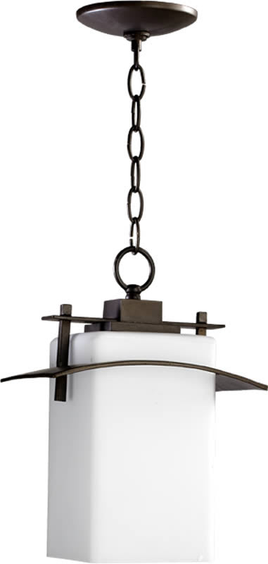 "10""W Kirkland 1-Light Outdoor Pendant Oiled Bronze"
