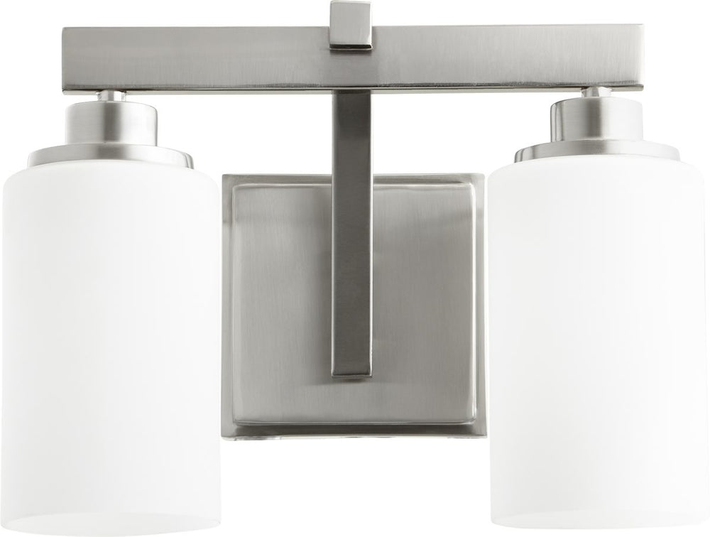 "13""W Lancaster 2-light Bath Vanity Light Satin Nickel"