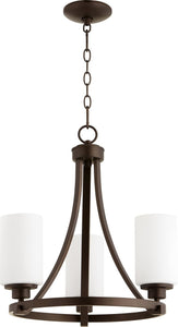 Quorum Lancaster 3-light Chandelier Oiled Bronze
