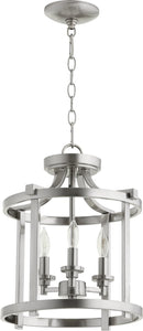 Lancaster 3-light Dual Mount Light Fixture Satin Nickel