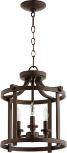 Lancaster 3-light Dual Mount Light Fixture Oiled Bronze
