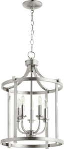 Quorum Lancaster 5-light Entry Foyer Hall Chandelier Satin Nickel