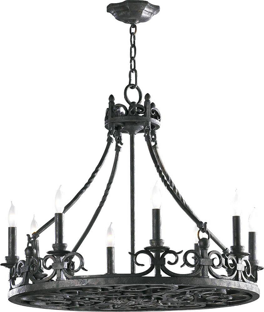 "28""W Lorenco 8-Light Chandelier Spanish Silver"