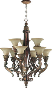 Quorum Madeleine 9-Light Chandelier Corsican Gold 6230988