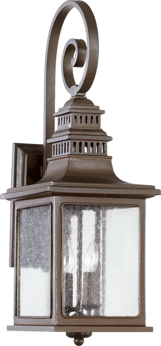 "25""h Magnolia 2-Light Outdoor Wall Lantern Oiled Bronze"