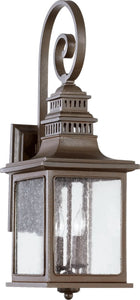 Quorum Magnolia 2-Light Outdoor Wall Lantern Oiled Bronze 7043286