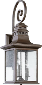 Quorum Magnolia 3-Light Outdoor Wall Lantern Oiled Bronze 7043386