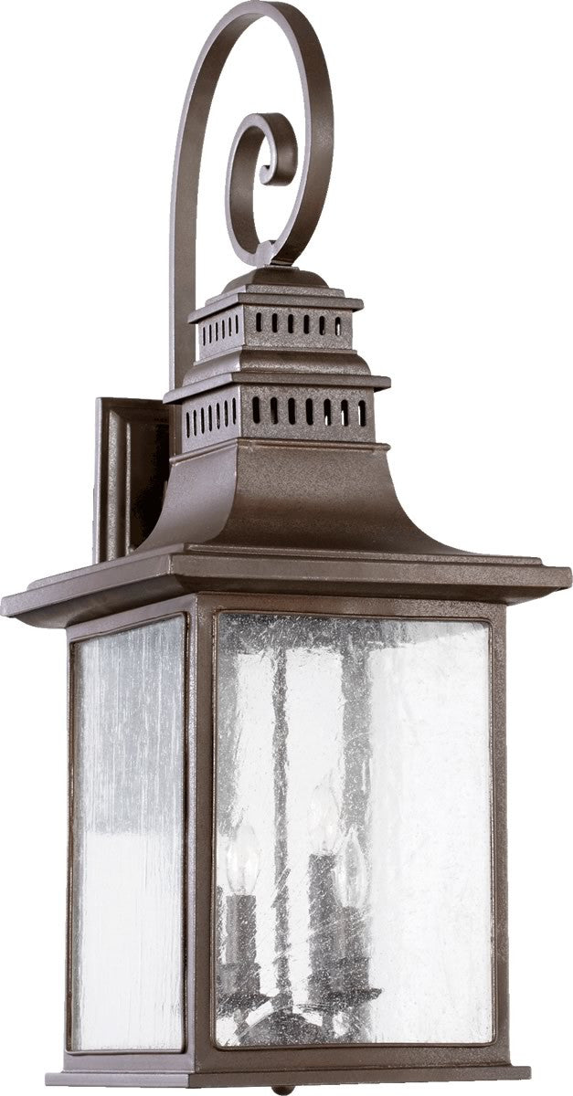 "34""H Magnolia 4-Light Outdoor Wall Lantern Oiled Bronze"