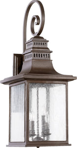 Quorum Magnolia 4-Light Outdoor Wall Lantern Oiled Bronze 7043486